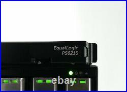 DELL EQUALLOGIC PS6210 ISCSI 48TB 24x 2TB SAS SAN STORAGE ARRAY+2CONTROL 15