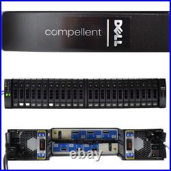 Dell Compellent Xyratex EB-2425 Storage Array 24x 2.5 SAS Bays No HDD 2x Cntrlr