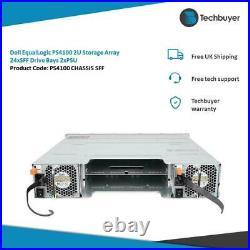 Dell EqualLogic PS4100 2U Storage Array 24 x SFF Drive Bays 2 x PSUs