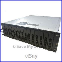 Dell PowerVault MD1000 Storage Array, 15x 2TB 7.2K Dual SAS Controllers, 2PSU