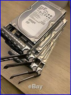 Dell PowerVault MD1200 6Gbps DAS Dual EMM 4x 3TB SAS Storage Array H800 Cables