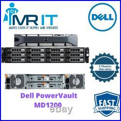 Dell PowerVault MD1200 Storage Array 12 x 2 TB 7.2k SAS HDD 3.5