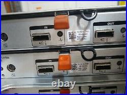Dell PowerVault MD1220 24-Bay SFF SAS Storage Array 2x 03DJRJ, 2x 600W 24 trays
