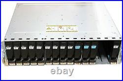 EMC KTN-STL3 15 Bay Hard Drive Enclosure Storage Array 3x 200gb SSD 9x 600gb HDD