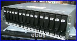 EMC KTN-STL3 Storage Array with 15x600GB 15K HDD 005049274 2x Controllers, 2 PSU