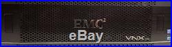 EMC VNX5200 4 x 900GB, 15x3TB FLARE and Base Array. 48TB Storage
