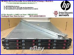 HP D2600 6G SAS Storage Array 36TB SATA Storage Rack Rails AJ940A 628059-B21