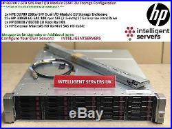 HP D3700 7.5TB 6G SAS Dual I/O Module 2U Storage Array QW967A