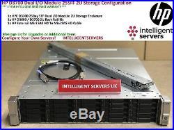 HP D3700 Dual I/O Module 25SFF 2U Storage Array QW967A