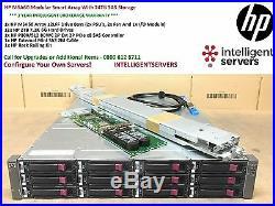 HP MSA60 Modular Smart Array With 24TB Storage 12x HP 2TB 6G SAS HDD