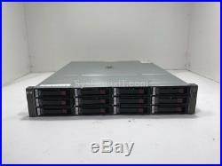 HPE StorageWorks MSA60 Storage Array with 12x 300GB 15K SAS Hard Drives