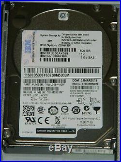 IBM Storage Array 69Y2921 24xIBM 600GB SAS Hard Drives 2xIBM Storage Controllers