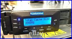 Infortrend EonStor ESDS B12S-G2240 12-bay SAS Storage Array 11x 600GB 10K SAS