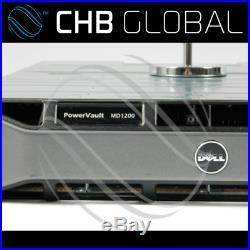 MD1200 Dell PowerVault Storage Array 2x SAS Controller 2x 600W PSU