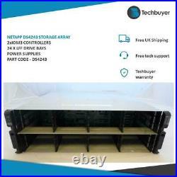 Netapp Ds4243 Storage Array 2 X Iom3 Controllers 24 X Lff Drive Bays 2 X Psu