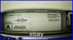 Nimble Storage Array CS215 SAN JBOD 12tb 12x2TB HDD 4x80gb SSD 2x 1200W PSU
